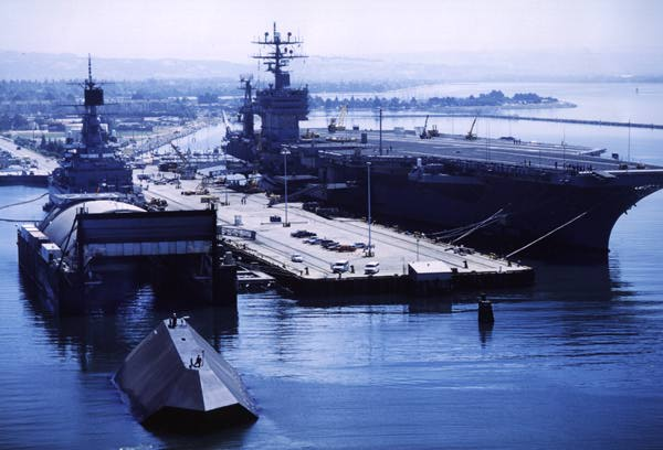 Sea shadow and USS Carl Vinson